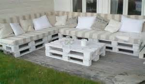 patio sofas and table - Garden Furniture Crates